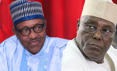 Image result for picture of buhari and atiku