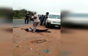 Breaking: Viral video shows Customs officer shoot man dead over alleged N5000