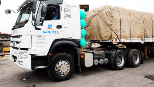 A Dangote Truck [Not the one involved in the alleged accidents]