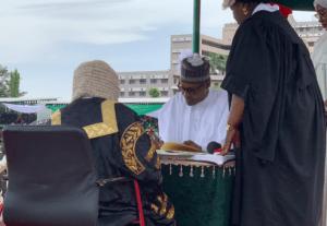 Inauguration Buhari takes oath of office