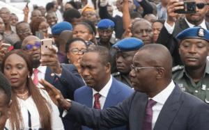 Sanwo-Olu, Hamzat arrive Alausa Secretariat