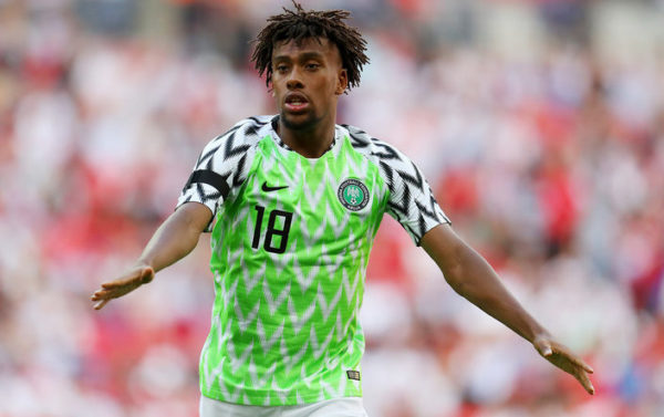 Alex Iwobi in cloud 9 over Rohr's contract extension