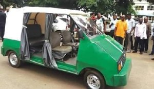 •The five-seater electric car manufactured by UNN