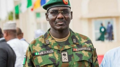 Buratai challenges security experts to trace terrorists' source of weapons