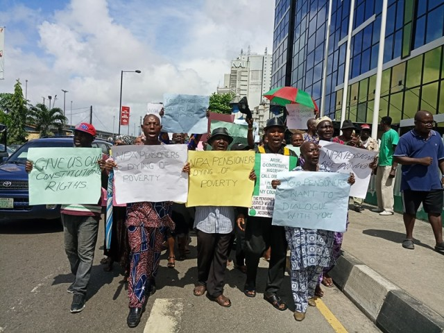 Unpaid Pension: Four retirees slump during protest in Imo