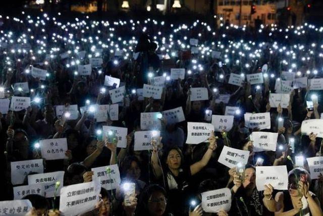 Hong Kong, protesters, martyrs, vigil