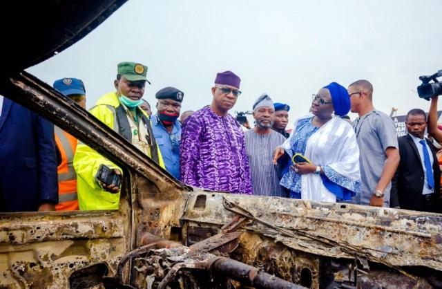 Gov Abiodun commiserates, weeps, picks hospital bill of Ota petrol tanker victims