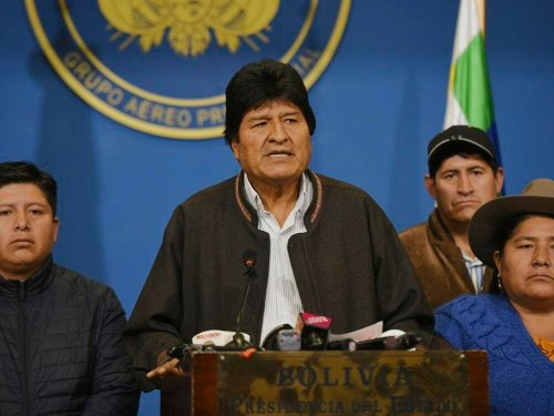 Bolivian President Evo Morales resigns following mass protests