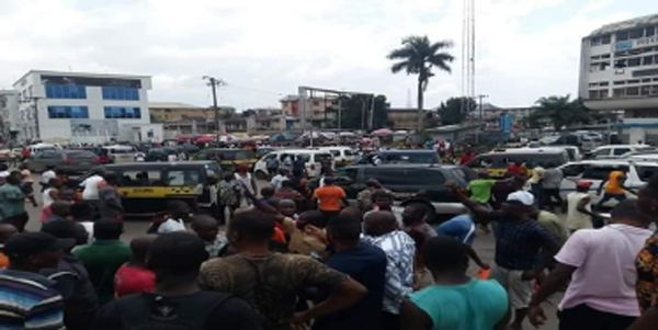 Imo commercial drivers protest extortion by task force members