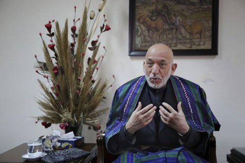 Afghanistan ex-president says U.S. fuel corruption in his country