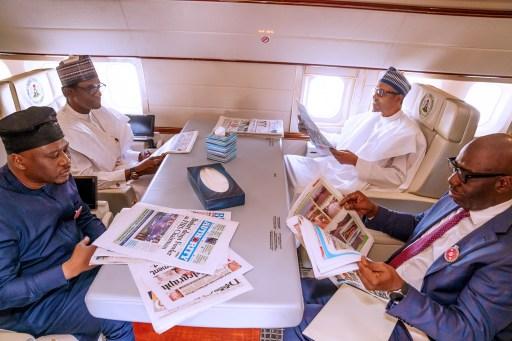 Buhari, 3 Governors depart for Egypt ahead of Aswan Forum