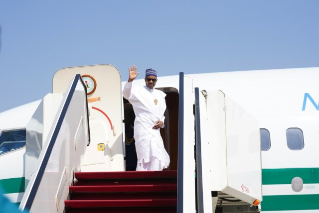 Buhari leaves Abuja to attend UK-Africa Investment Summit in London