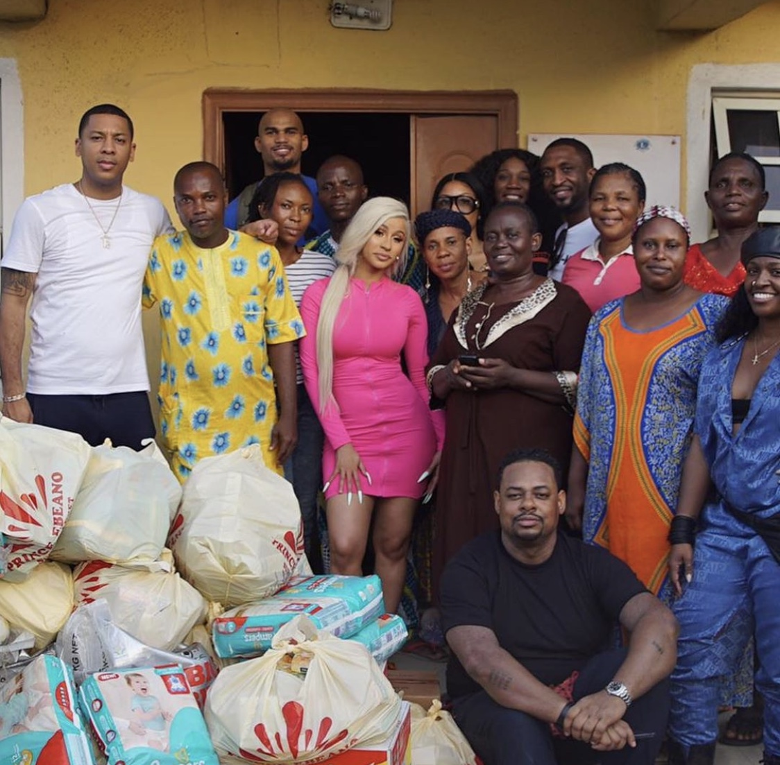 Cardi B And Jidenna Visit Lagos Strip Club, Make It Rain Money