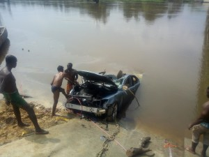 One feared dead, 2 Others missing as car plunged into river