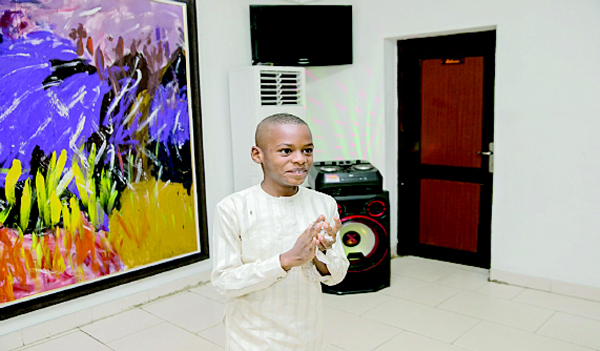 When 10-year-old Kanyechukwu had solo exhibition