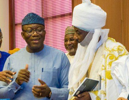 Border Closure: Governor Kayode Fayemi (RIght) and Emir Lamido Sanusi (Right)