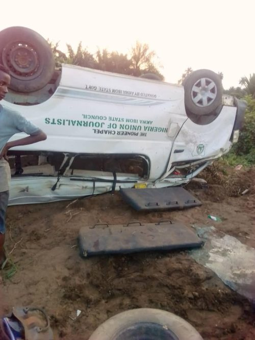 Four staff of A-Ibom Newspapers dead, others injured in fatal accident