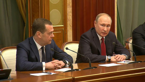Russian government resigns, after President Putin's State-of-the-Nation Address
