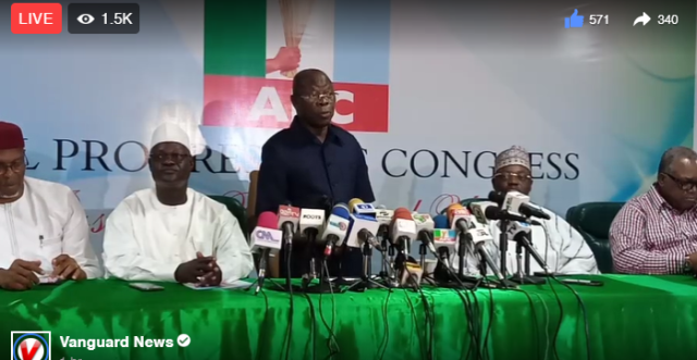 Imo: PDP reckless, trying to incite violence -Oshiomhole