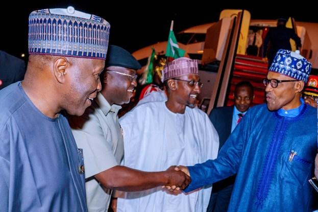 Photos: Buhari returns from UK-Africa Investment Summit