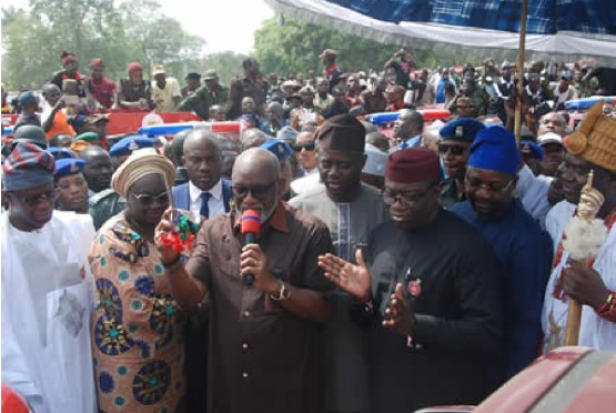 South West Governors at the launch of Operation Amotekun