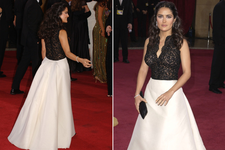 Salma Hayek reveals A-lister who saved her from awkward wardrobe malfunction