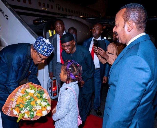 Buhari arrives Addis Ababa ahead of AU Summit