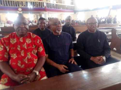 Peter Obi,Senetors, Abaribe, Umeh arrive at Nnamdi kanu's parents funeral