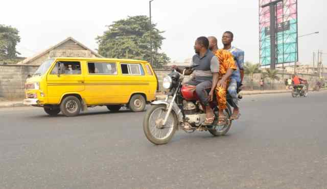 Lagos govt. puts compliance level on motorcycle, tricycle ban at 90%