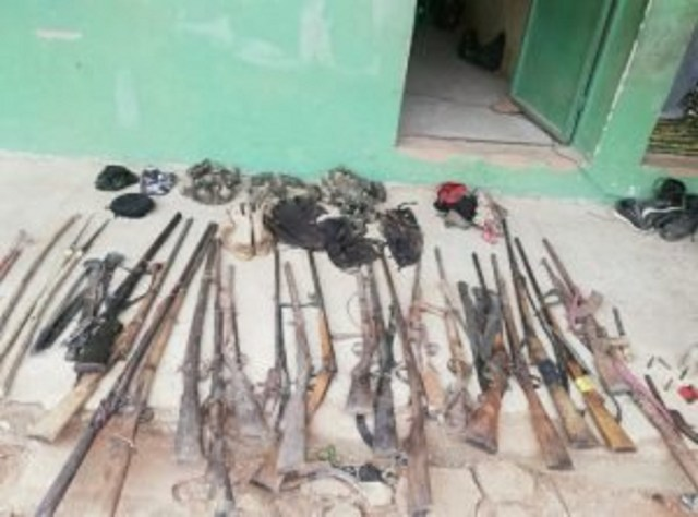 Troops recover large cache of arms from bandits in Benue