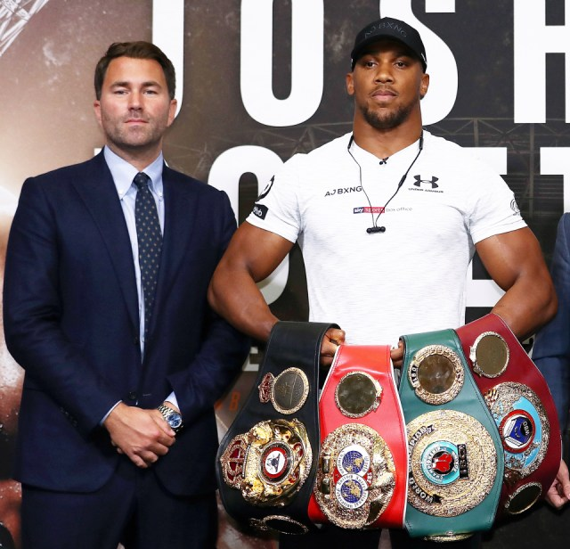 Eddie Hearn, Anthony Joshua