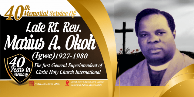 When Christ Holy Church Celebrated Late Founder After 40years