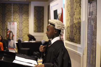 Student participating in the University of Dundee Mooting Competition