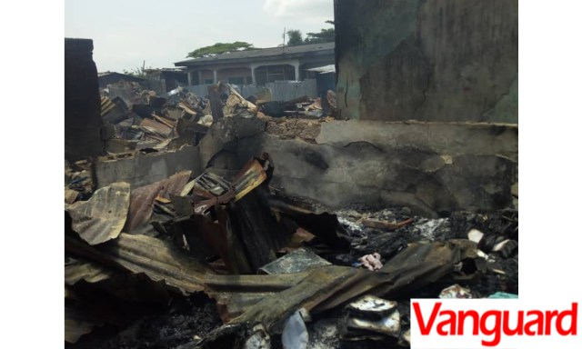 VIDEOS: Rival groups in Ajah, Lagos set community on fire over land dispute