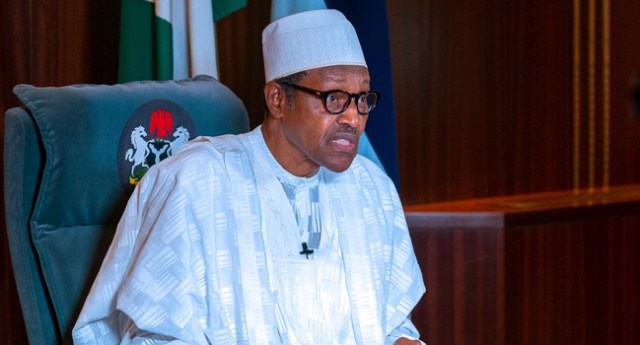 On Africa day 2020, Buhari says no development without peace