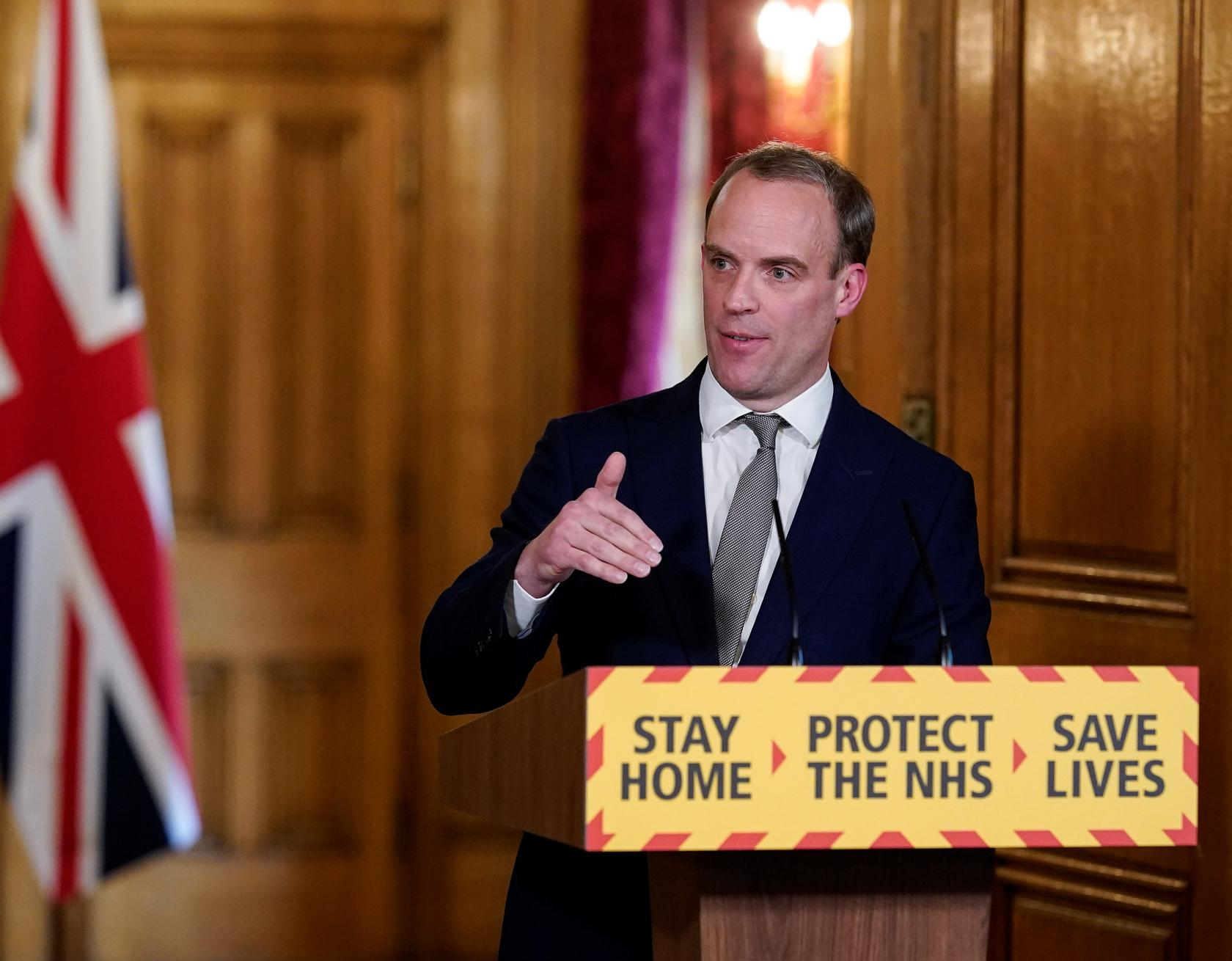 Britain confident about hitting 100,000 Coronavirus daily tests target, claims Dominic Raab
