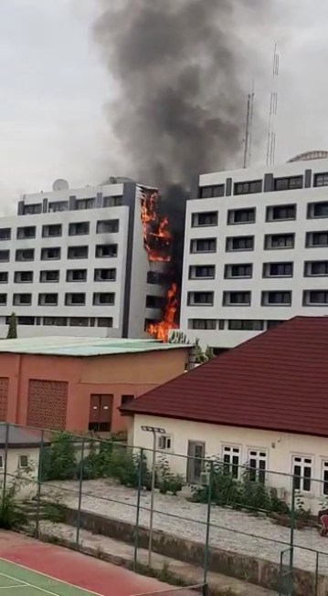 Part of the Accountant-General Office, Treasure House on Fire