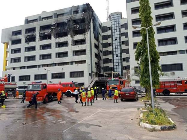 Fire Service probes inferno at Treasury House in Abuja
