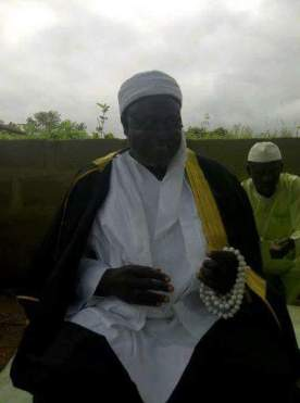 Picture of Sheik, Ahmad Ejibunu, the Chief Imam of Kabba Land, declared COVID-19 positive by NCDC.