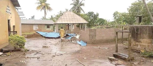 Rainstorm destroys 30 buildings, including public school at Badagry, Lagos