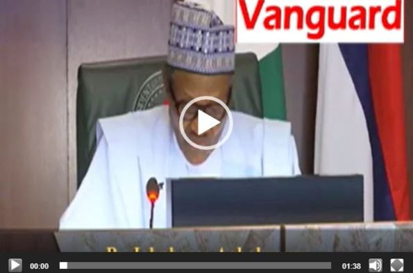 VIDEO: Buhari's speech during APC's NEC meeting