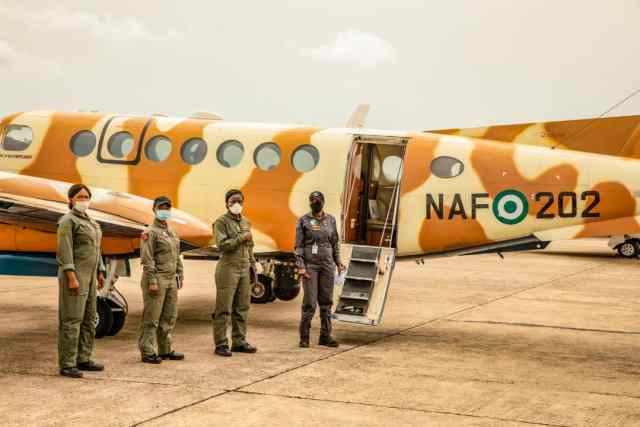 NAF makes history as all female crew carry out ISR Operation