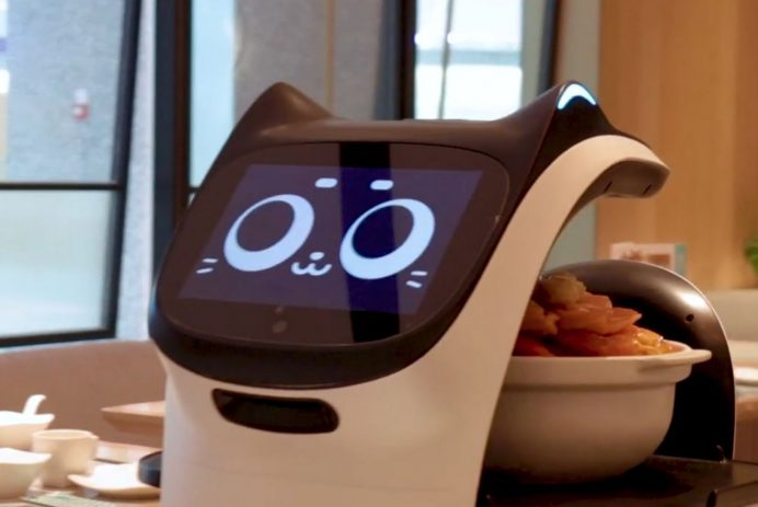 """The """"Food On"""" restaurant, located in Hong Kong's Science Park, deploys machines to replace human workers, including waiters, chefs and even thos"""