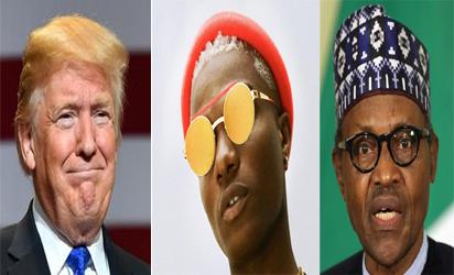 Wizkid fumes, describes Buhari, Trump as clueless leaders