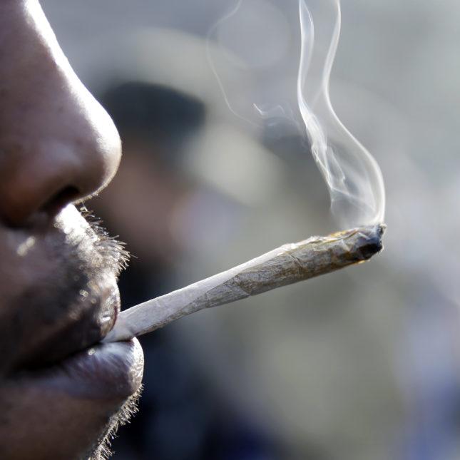 Man in court for publicly smoking marijuana