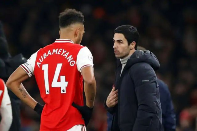 Arteta feared Aubameyang's exit from Arsenal
