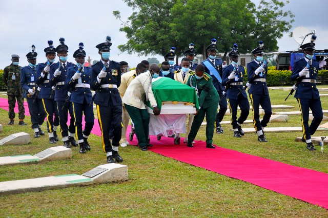 PHOTOS: Tears, tributes galour as Flying Officer Arotile is buried with full military honour