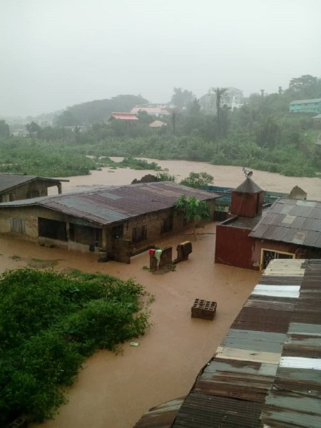 PHOTOS: Flood takes over Abeokuta roads, as residents count losses