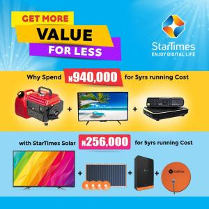 'How StarTimes' pocket-friendly solar power system saves me over N700k'