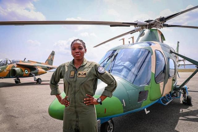 tolu 6 1 Photos of a late first fighter helicopter pilot in Nigeria, Tolulope Arotile in service